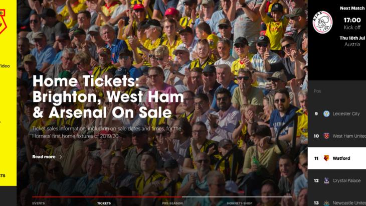 【観戦チケット】ワトフォードのサッカー観戦チケットを最安値で入手する方法知っていますか?